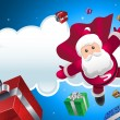 Super Santa coming! — Vector de stock