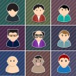 Royalty-Free Stock Vektorgrafik: Vector various people icon set.