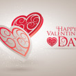 Valentine's Day Card — Vector de stock