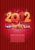 3D 2012 Happy New Year — Stockvektor