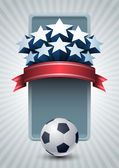 Championship soccer banner — Stock Vector