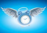 Winged clock. — Stock Vector