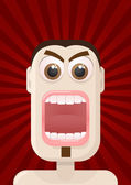 Angry — Stock Vector