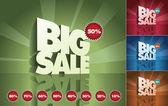 3d retro Big Sale — Stock Vector