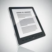 E-boek lezer — Stockvector