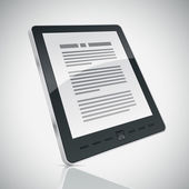 E-book reader. — Vecteur