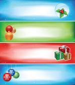 Christmas banner set — Stock Vector