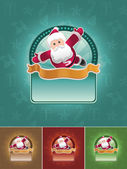 Super santa banner set. — Stock Vector