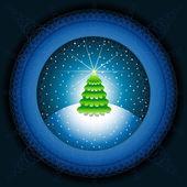 抽象的なクリスマス ツリー — ストックベクタ