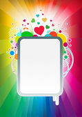 Colorful love banner — Stock Vector
