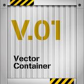 Cargo container symbol — Stock Vector