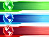 World banner set — Stock Vector