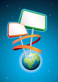 Globe Placard — Stock Vector