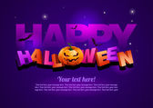 Happy Halloween poster template — Stock Vector