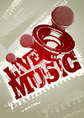Live Music! — Stock Vector