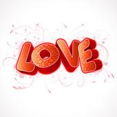 LOVE text — Stock Vector