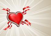 Coeur avec espace copie — Vecteur