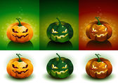 Halloween Pumpkin set — Vettoriale Stock