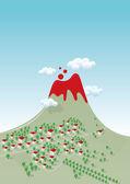 Volcano. — Stock Vector