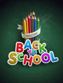 Back to school — Vetorial Stock