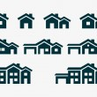 Stock Vector: House Icon Set