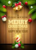 Noel mesaj panosu — Stok Vektör
