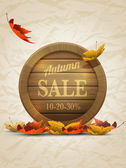 Autumn Sale Poster Template — Stock Vector