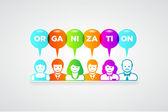 Organization concept — Stock Vector