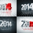 2014 Happy New Year Set — Stock Vector #30296717