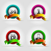 Badge Set — Stock Vector