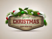 Christmas Message — Stock Vector