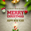 Christmas Message Board — Imagen vectorial