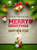Christmas Message Board — Vector de stock