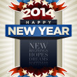 Year 2014 Poster — Stock Vector #35467591