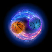 Basketball comet — Stockvektor