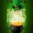 St. Patrick's Day Poster — Stock Vector