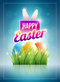 Happy Easter Poster — Stock Vector