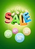 Sale flowers — Stock Vector