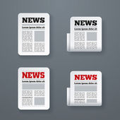 Newspaper Icon Set — Stock Vector