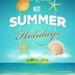 Summer poster design template — Stock Vector