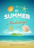 Summer poster design template — Stock Vector