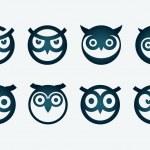 Owl Symbol Set — Stock Vector #43758735