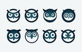 Owl Symbol Set — Stock Vector