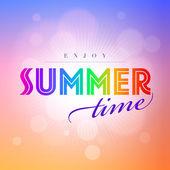 Sommerzeit. — Stockvektor