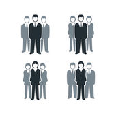 Busines People Group — Stock Vector