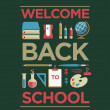 Welcome Back To School Poster — Stock Vector #50253175