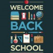 Welcome Back To School Poster — Stock Vector