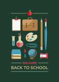 Välkommen tillbaka till skolan affisch — Stockvektor