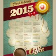 2015 Coffee & Cake Calendar Poster — Stock Vector #51370485