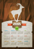 Year of the Goat 2015 Calendar — Vector de stock